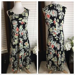 Jones Wear Black Floral Dress 14